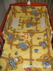 Bébi ágynemű szett 3 részes - Rácsos maci