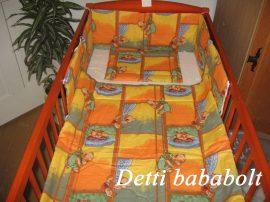 Bébi ágynemű szett 3 részes - Ablakos maci
