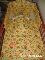 Bébi ágynemű szett 3 részes - Bagoly faágon