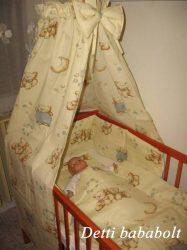 Maci szürke nadrágban - bébi 4 részes baldachinos ágynemű szett