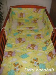 Bébi ágynemű szett 3 részes - Alvós maci