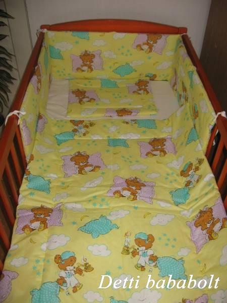 Bébi ágynemű szett 3 részes - Alvós maci - Detti gyerekágynemű és ... 49a63e4b64