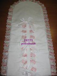 Pólyahuzat ( Rózsaszín madeira csipkés)