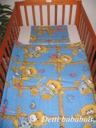 Rácsos maci - Bébi ágynemű szett 2 részes