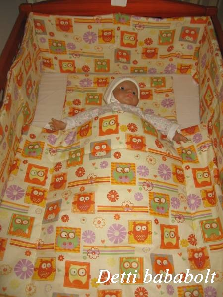 Bébi ágynemű szett 3 részes - Bagoly kockában - Detti gyerekágynemű ... 0bdcc6237e