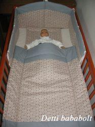 Bébi ágynemű szett 3 részes - Szívecske