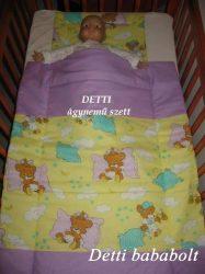 Alvó macik - Bébi ágynemű szett 2 részes