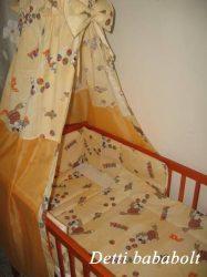 Cicás - bébi 4 részes baldachinos ágynemű szett