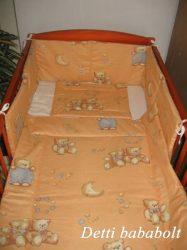 Bébi ágynemű szett 3 részes - Maci szürke nadrágban