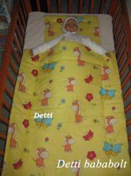 Bébi ágynemű szett 2 részes - Zsiráf pillangóval