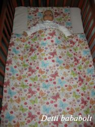Bébi ágynemű szett 2 részes - Pillangós