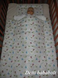 Apró járgányos - Bébi ágynemű szett 2 részes