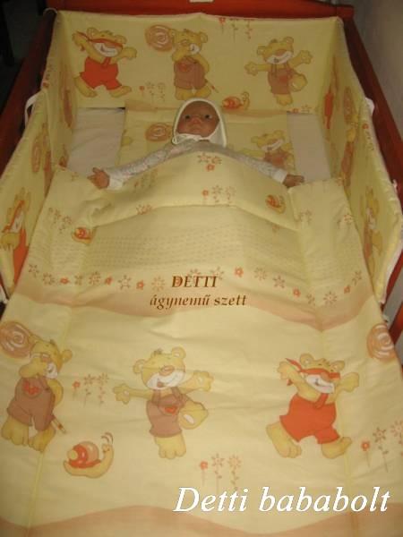 Bébi ágynemű szett 3 részes - Maci csigával - Detti gyerekágynemű és ... d1b49d665e