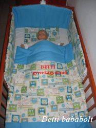 Bébi ágynemű szett 3 részes - Bagoly kockában