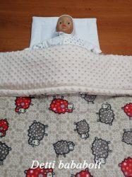Báránykás minky bélelt takaró