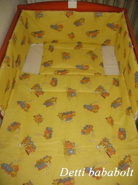 Bébi ágynemű szett 3 részes - Vonatos - Detti gyerekágynemű és Bambi ... 58dd1bdfe9