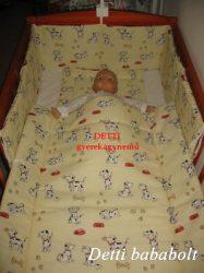 Bébi ágynemű szett 3 részes - Dalmata kutyusos