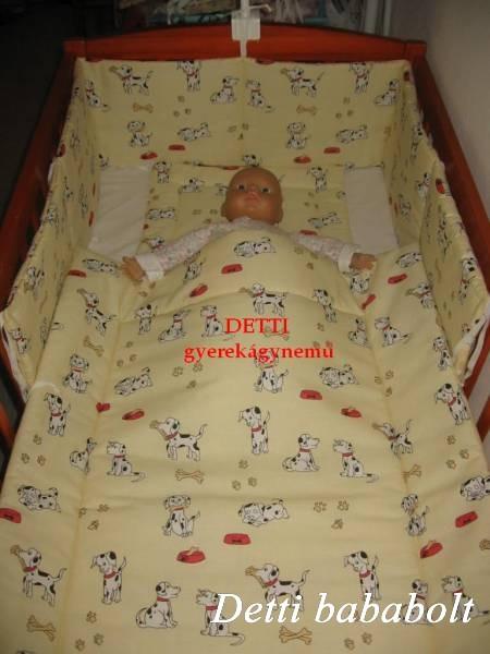 Bébi ágynemű szett 3 részes - Dalmata kutyusos - Detti gyerekágynemű ... a11a6818cb
