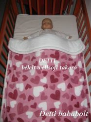 Szívecske mintás - Wellsoft pihe puha bélelt takaró