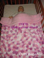 Mozaik mintás - Wellsoft pihe puha bélelt takaró