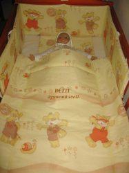 Bébi ágynemű szett 3 részes - Maci csigával