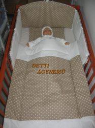 Bébi ágynemű szett 3 részes - Pöttyös