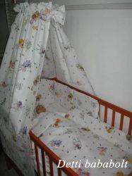 Tündéres (fehér) - bébi 4 részes baldachinos ágynemű szett