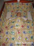 Bébi ágynemű szett 3 részes - Állatkák kockában