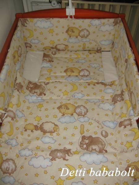 Bébi ágynemű szett 3 részes - Bárányka elefánttal - Detti ... 11b9e07cee