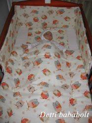 Bébi ágynemű szett 3 részes - Baglyok faágon