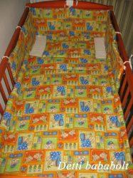Bébi ágynemű szett 3 részes - Zsiráf virágokkal