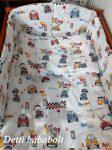 Teddy driver - autós macis - 5 részes levehető huzatos ágynemű garnitúra