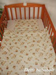 Játékos maci - Bébi ágynemű szett 2 részes